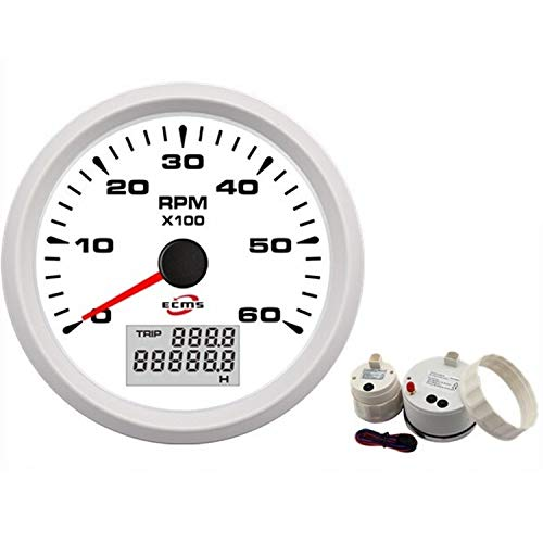 Car Instruments 85mm GPS Speedometer 0-35Knots 0-40MPH with LCD Display for Marine Boat Yacht Vessel Odometer for Car Truck Boat (Color : C) ()