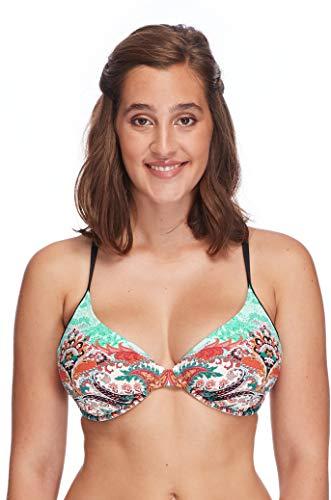 Skye Women's Hilary D, Dd, E, F Cup Underwire Bikini Top Swimsuit, Vivi Paisley ()