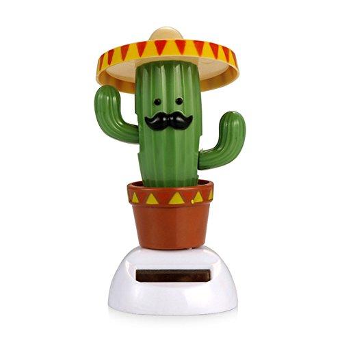 Studyset - Figura decorativa para salpicadero de coche, diseño de dibujos animados, Cactus, 5.8*6*10.5