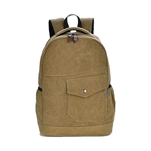 Capacità Tracolla Di Backpackss Casual Zaino A Cachi Grande Per t70cw4g6xq
