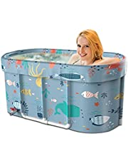 Foldable Bathtub Portable Soaking Bath Tub,Eco-Friendly Bathing Tub,Large Foldable Soaking Bathing Tub for Adults Freestanding Non-Inflatable Hot Bath Tub,Thickened Thermal Foam to Keep Temperature