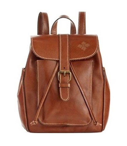 Patricia Nash Heritage Aberdeen Tan Leather Drawstring Small Backpack (Collection Drawstring Hobo)