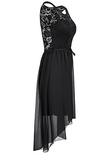violet Fashion - Vestido - Noche - para mujer negro
