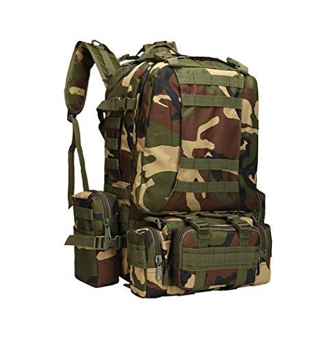 viaje Montañismo mochila Conglinmicai mochila militar camping de táctico CP camuflaje combinación gran multifuncional capacidad de ZABEAxqw