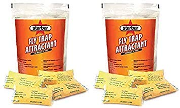 Starbar 2 Bags of Fly Trap Attractant, 16 Pouches Total