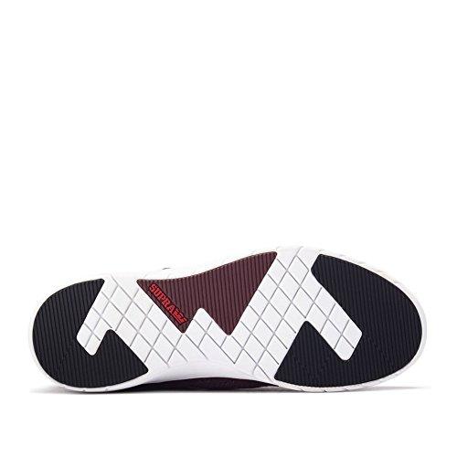 Supra Scissor - Zapatillas Hombre Burgundy Black White