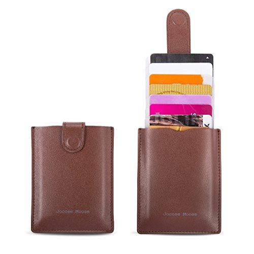 RFID Leather Minimalist Slim Wallets - Credit Card Holder Front Pocket Wallet for Men Women