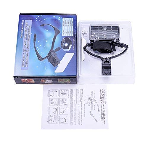 LED Light Weight Magnifier with 5 Lenses 1x 3.5x Housweety HOUSWEETYG00026 2x 1.5x 2.5x