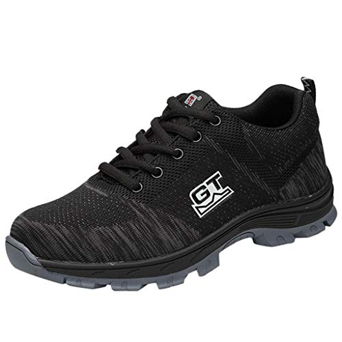 YKARITIANNA Summer Couple Anti Puncture Work Shoes Breathable Wear Fashion Safety Work Shoes Black
