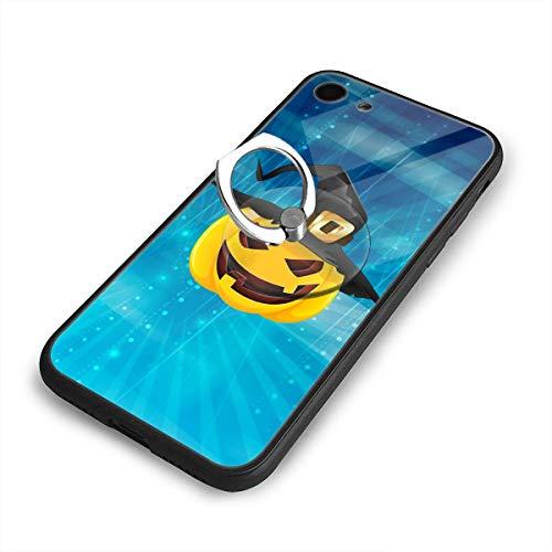 C-CASE Pumpkin Face Halloween Flexible Retro Minimalist Creative Durable Waterproof TPU Inner Shockproof Glass iPhone Case (iPhone 7/8 Case) -
