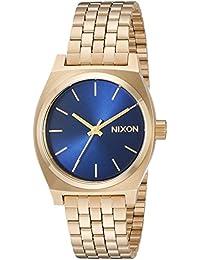 Nixon Women's The Medium Time Teller All Light Gold/Cobalt