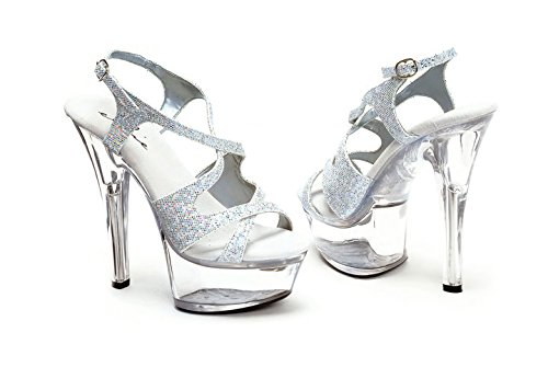 from china free shipping low price Ellie Shoes Women's 6 Inch Heel Silver Glitter Strappy Sandal Silver Glitter sale visa payment cheap prices authentic free shipping view finishline cheap online qDfyh3Vu