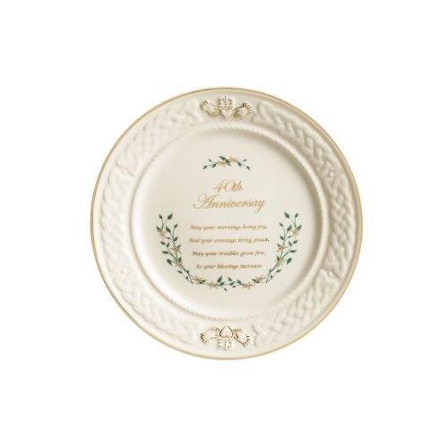 (Belleek 40th Anniversary Plate )