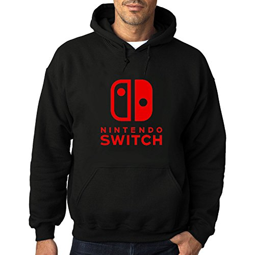 Price comparison product image Men's Nintendo Switch Logo Heavy Blend Adult Hoodie Sweatshirts XL Black hot