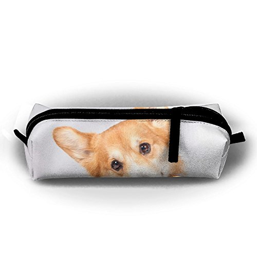Ppppllll Cute Smile Welsh Corgi Dog Zipper Travel Cases Makeup Handbag Resistance Carrying Handle Cosmetic Hanging Bag Accessories Toiletries Pouch Power Lines Documents Bag - Welsh Outdoor Hanging