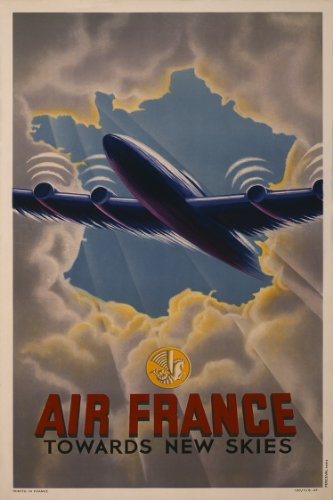 air-france-travel-print-towards-new-skies-art-poster-measures-24-high-x-18-wide-610mm-high-x-458mm-w