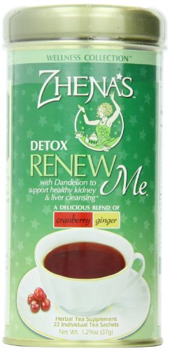 Zhena's Renew Me Detox Tea, 1.29 Oz, 22-Count