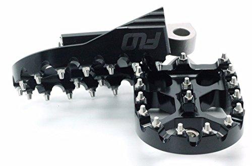 FLO MOTORSPORTS MX STYLE HARLEY DAVIDSON DYNA FOOT PEGS (Black) by Flo Motorsports (Image #2)