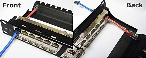 R.J. Enterprises - Shielded Cat6A, 10 Gigabit, TOOL-LESS, High Density Patch Panel (48 Ports in 1U) -- HDPP-48S-C6A by R.J. Enterprises