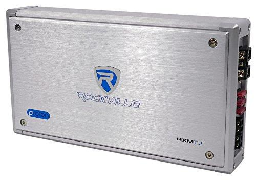 Rockville RXM-T2 Micro 2400w 2 Ch Marine/Boat Class D Amplifier 2x600W CEA Rated