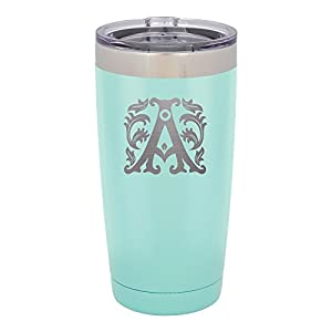 Froolu Insulated Water Bottle - Mint Personalized Laser Engraved Tumbler - Hydro Travel Cup Flask