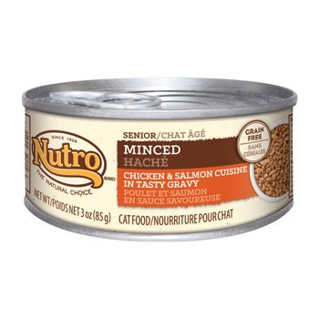 Nutro Natural Choice Minced Chicken & Salmon Formula Canned Senior Cat Food, Case of 24 by Nutro
