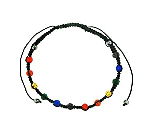Shamballa Rainbow Adjustable Necklace - Gay and Lesbian LGBT Pride Necklaces