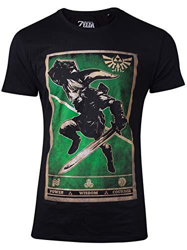 Official Legend of Zelda - Propaganda Link Triforce Men's T-Shirt - L