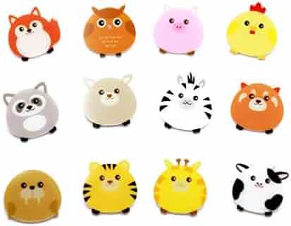 7311cadfb Forch 12 PCS Animals Cartoon Pins Cat Dog Acrylic Brooch Women Girls Cute  Badges Clothes Bags