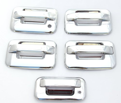 - EZ Motoring Chrome Door Handle & Tailgate Covers w/o keypad & w/o psg keyhole for 2004-2014 Ford F-150 F150 (4 Doors)