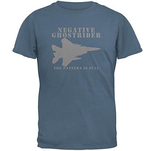 Rider Ghost - Old Glory Negative Ghostrider Mens T Shirt Indigo Blue LG