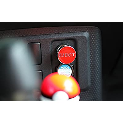 Kei Project Eject Button Car Cigarette Lighter Replacement 12V Accessory Push Button Fits Most Automotive Vehicles (Red): Automotive