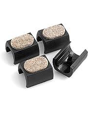Design61 Viltglijders set van 4 voor cantilever stoelglijders Ø 23-25 mm meubelglijders klemschaalglijders met geluidsdempend viltglijvlak