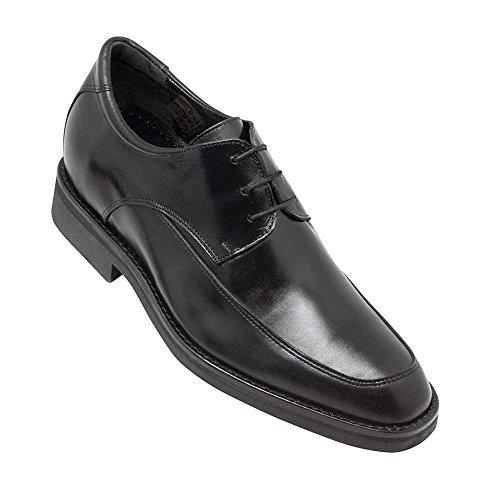Masaltos Schuhe Herrenschuhe Die auf Unsichtbare Weise Ihre Körpergrösse bis zu 7 cm Erhöhen. Herrenschuhe mit Verstecktem Absatz. Modell Roma Schwarz