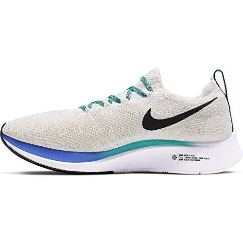 Nike Zoom Fly Flyknit Women's Running Shoe Light Cream/Black-Hyper Jade-Sapphire 7.0
