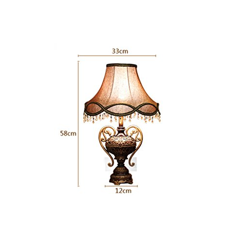 Edge To Table Lamp European Style Lamp Creative Luxury Living Room Decorative Table Lamp Modern Simple Bedroom Bed Table Lamp ( Color : Small 55cm ) by Edge To (Image #2)