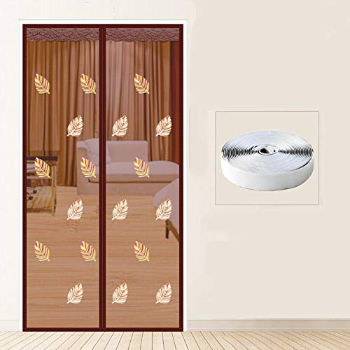 ZYLHC Magnetic Screen Door, with Magnet and Full Frame Hook & Loop, Mute Mesh Fly Net for Bedroom Windows, Hands-Free Mosquito Screens-a W100h220cm(3986inch)
