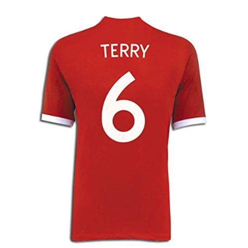 ラフ睡眠野球怠惰Umbro TERRY #6 England Away Jersey/サッカーユニフォーム イギリス アウェイ用 背番号6 テリー
