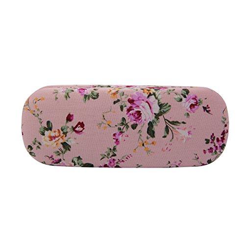 Philley Floral Fabrics Retro Light Hard Eyeglasses Case - Glasses Pink Case
