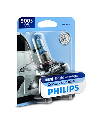 Philips 9005 CrystalVision Ultra Upgrade Bright White Headlight Bulb, 1 Pack (9005 Phillips Xtreme Vision)