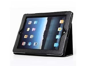 TR Protección anti-arañazos PU Leather Flip Case para iPad 2 (Negro)