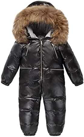 be71f3b06 Clothing, Shoes & Jewelry ZPW 2018 New Baby Boy Girl Snowsuit Winter Down  Coat/Snow Bib Pants Colorful Fur Trim Hooded Suits