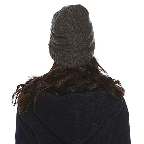 Unisexe Doux Et B Doublure Bonnet Beanie Air Élastique En Hiver Cap Polaire Hommes Molleton Femmes Chapeau Ensemble Gris Quotidien Chauffant Chaud Laine Aibrou Adultes Tricot Plein Épais Pour F8RxwSqq