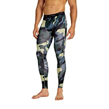 COOLOMG Men's Compression Pants Running Sports Tights Leggings 20 Color/Patterns Quick Dry