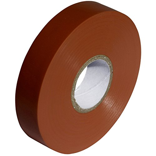 Brown PVC Electrical Insulation Tape - 33m x 19mm - Large High Quality - Strong Roll by Gocableties