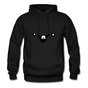 Diatinguish Chic Personalized Sweatshirts Cotton Cute Cute Baby Face X-large Women Black