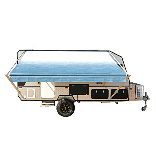 ALEKO RVAW16X8BLUE24 Retractable RV or Home Awning 16 x 8 Feet Blue Fade