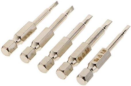 Onior 1/4 '六角シャンク50 mmトライアングルヘッドドライバービットセーフティヘッドドライバービットキット1,8,2,0,2,3,2,7,3,0 mm修理用ドライバーツールセット5