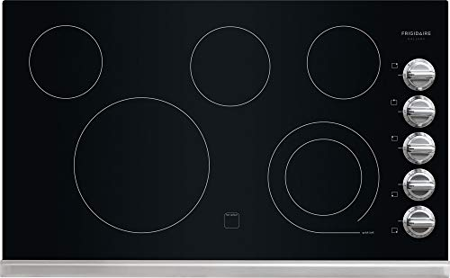 Frigidaire Gallery 36″ Stainless Black Electric Smoothtop Cooktop FGEC3645PS