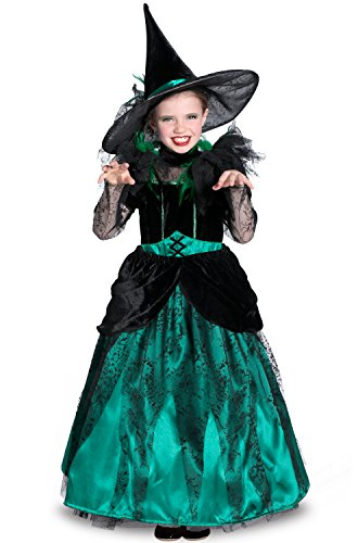 Princess Paradise The Wizard of oz Wicked Witch of The West Pocket Princess Costume, Green/Black, Medium